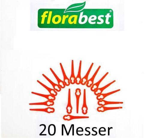 20 Ersatz Plastik Messer Messerchen FLORABEST LIDL Trimmer FAT 18 B2 IAN 71315
