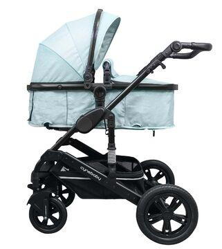 grau 2in1 ALU Kombi Kinderwagen Komplettset Buggy Babywanne California Luxe