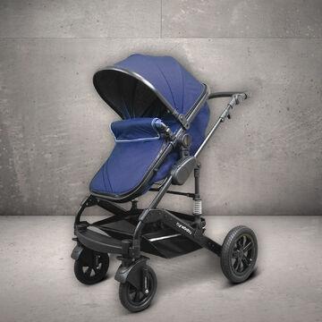 Cynebaby TRIO SET Kombi Kinderwagen 3in1 Mint Melange mit Babyschale schwarz