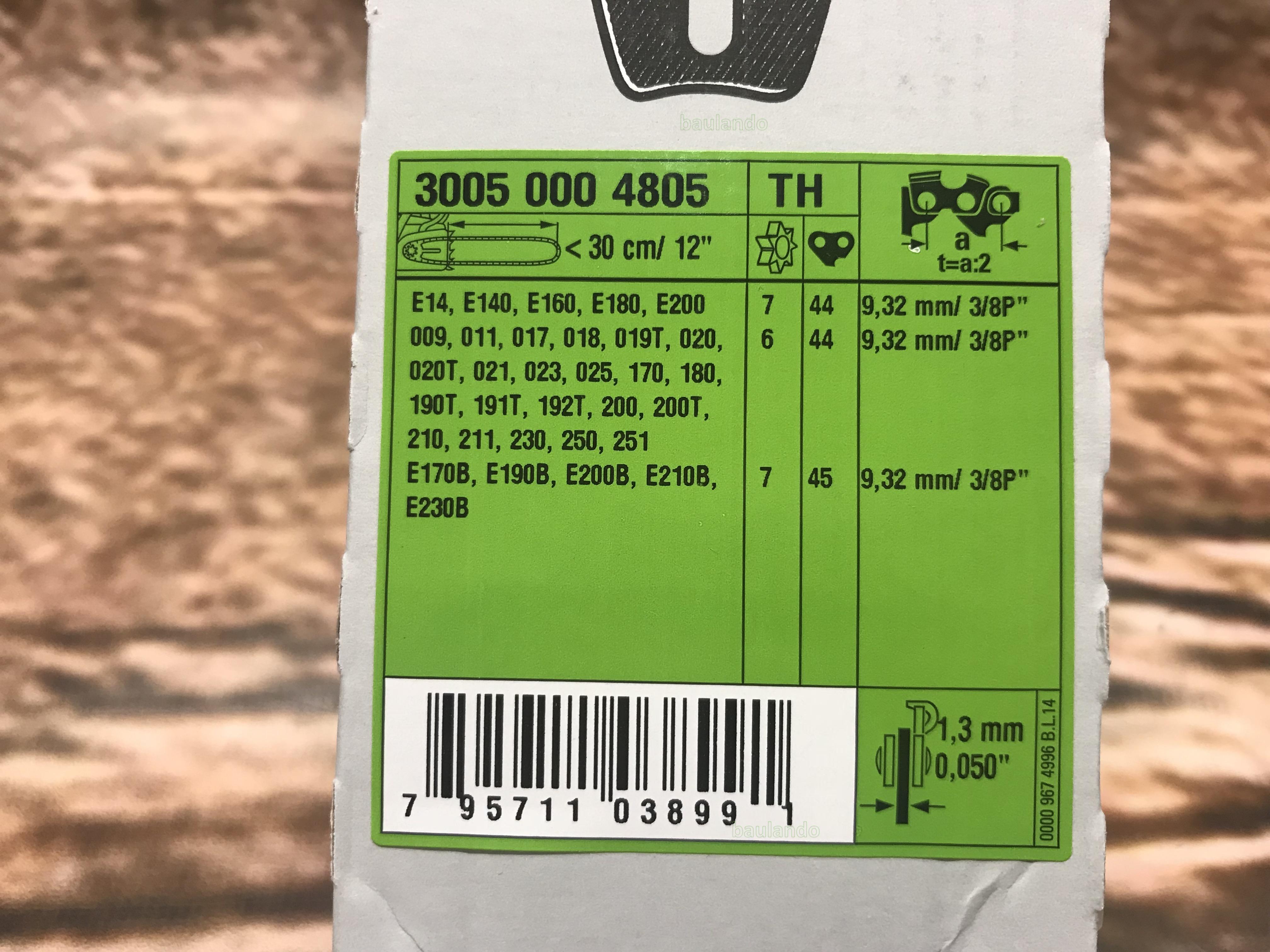 """STIHL guida rollomatic e 3//8/""""p 1,3mm 30 35 40 45 cm 4805 4809 4813 17"""