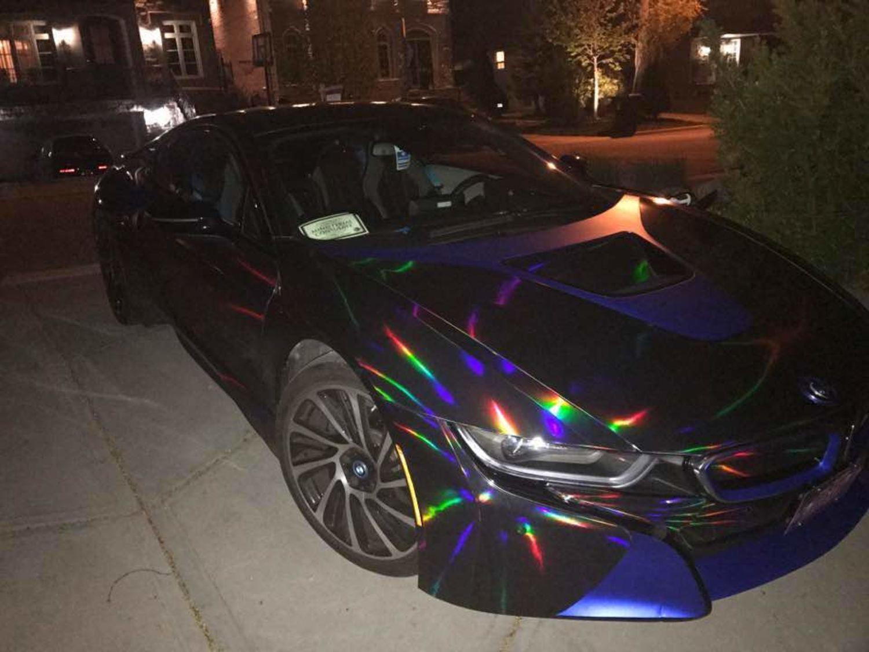 speedwerk-motorwear 3D Holographic Chrom Black Rainbow f/ür Car Wrapping Effektfolie 10m x 1,52m Spiegelfolie