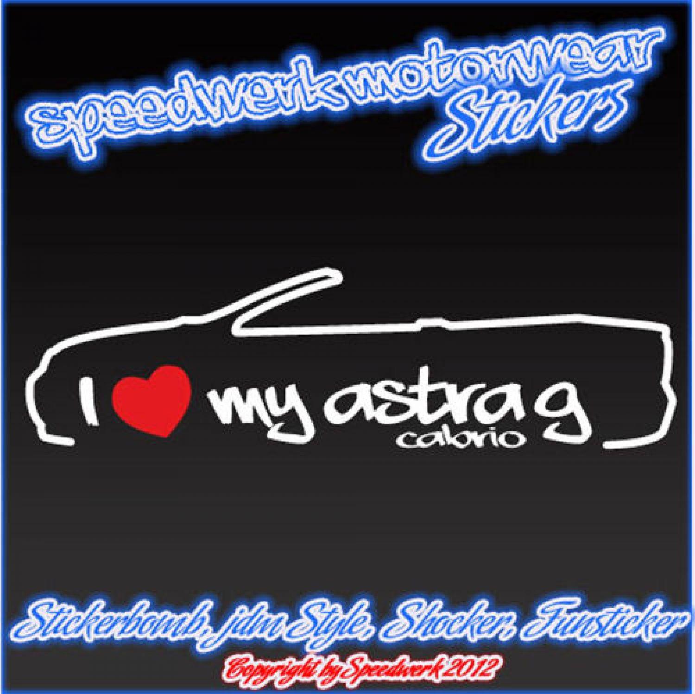 Jdm Vauxhall GTS Opc Sticker Shocker Car Sticker I Love My Astra G Cabrio