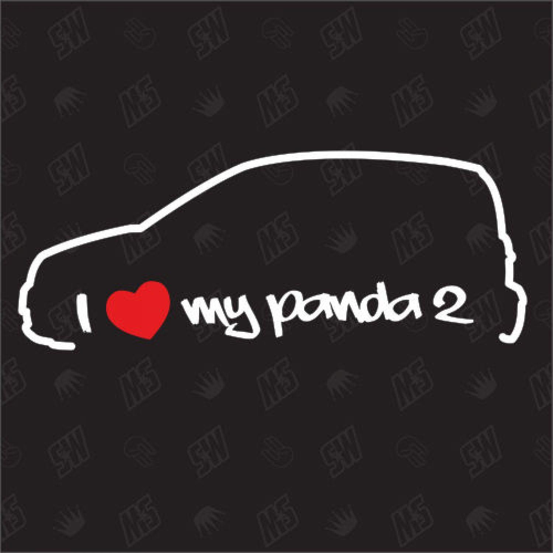 i love my fiat panda 2 tuning sticker auto fan. Black Bedroom Furniture Sets. Home Design Ideas
