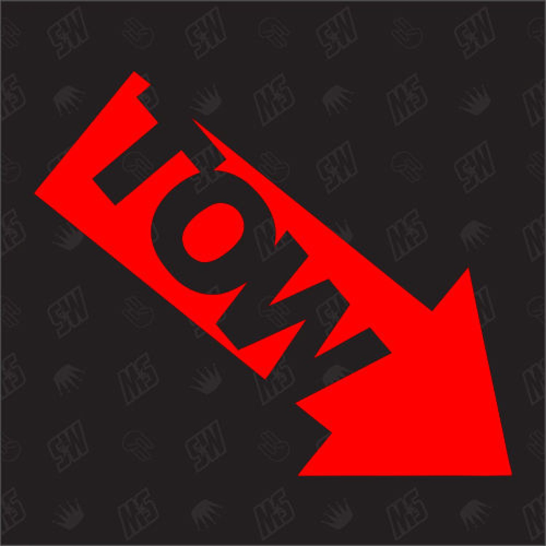 - Tuning Sticker TOW Racing Aufkleber Abschleppöse Pfeil Low links