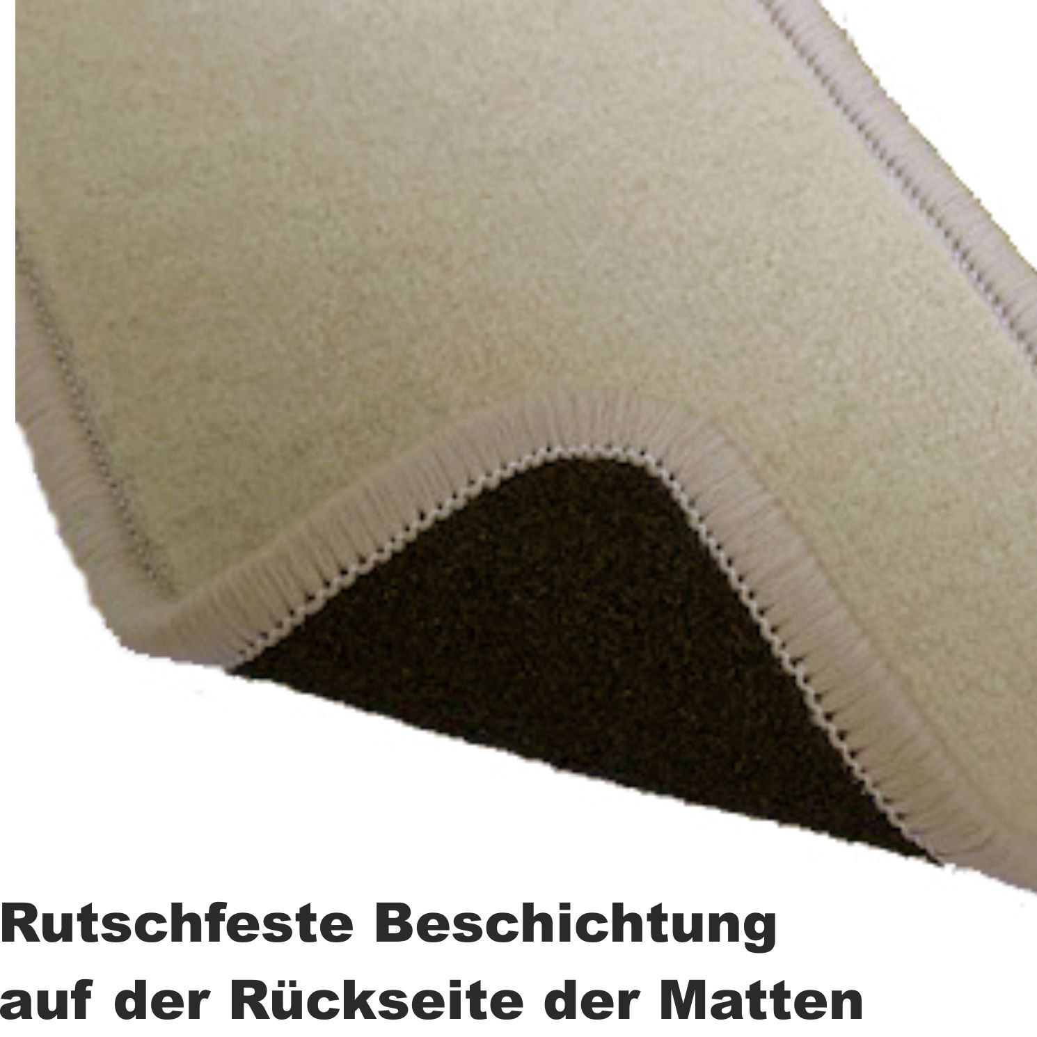Fußmatten beige BMW 3er Cabrio E93 2007 bis 2013 Automatten Autoteppiche
