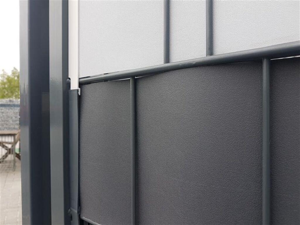 Befestigung Clips Klemmschinen Klemmleiste Sichtschutz Grau Fur