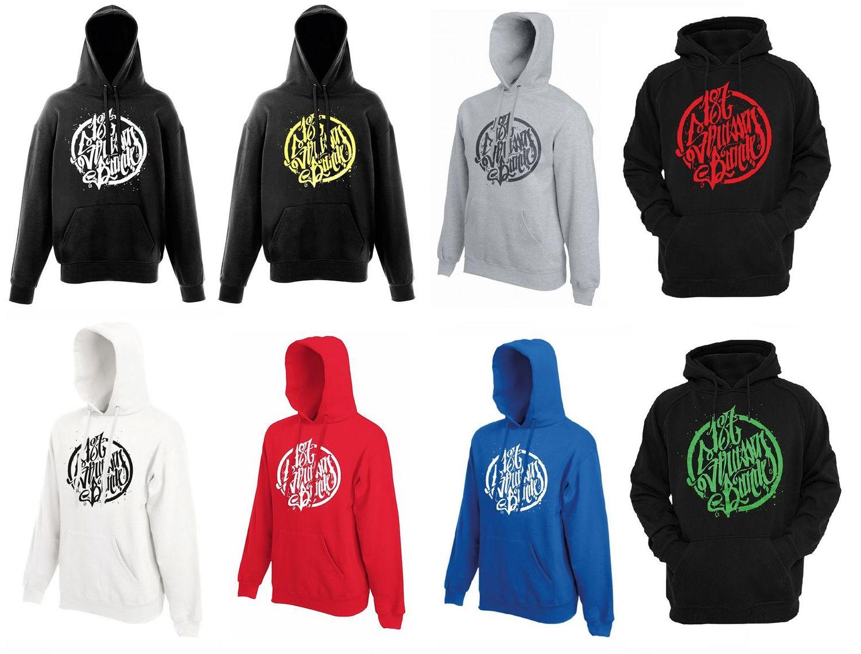 187 Straßenbande Logo Hoodie schwarzrot:
