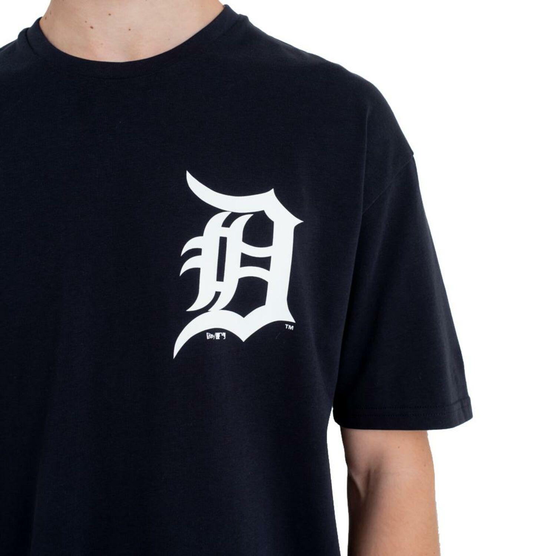 New Era Talla Grande XL Logo Camiseta Detroit Tigers MLB 2019 Negro ... dfde714ddf1