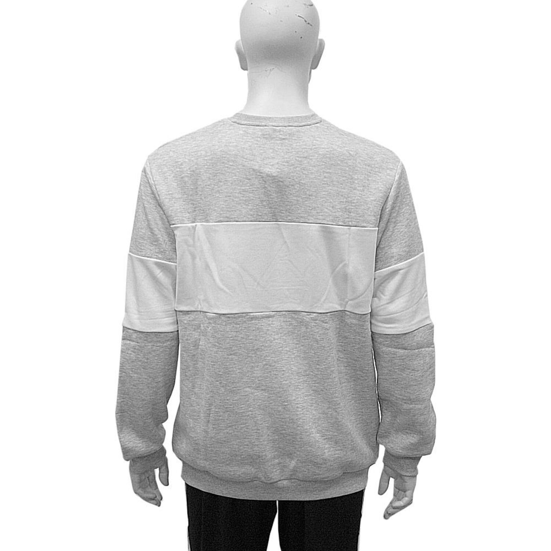 ebbfc8f93d0 Fila Sweater Urban Line Crewneck Straight Blocked Light Grey Melange ...