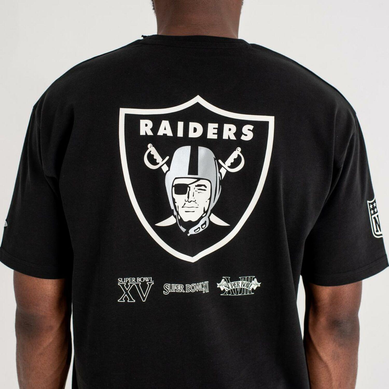 8195b6fdd New Era Oversized Superbowl T-Shirt Oakland Raiders Black NFL