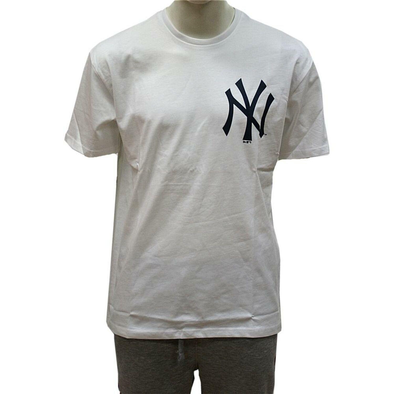 b85654a92578d New Era Talla Grande XL Logo Camiseta New York Yankees Blanco MLB ...