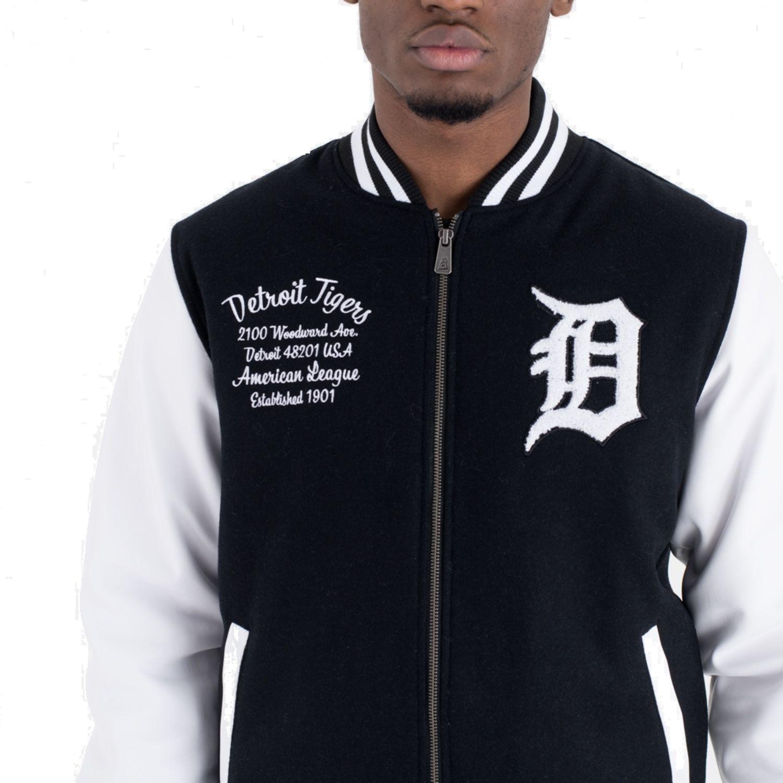 Details zu New Era Varsity College Jacke Detroit Tigers Post Grad Pack black