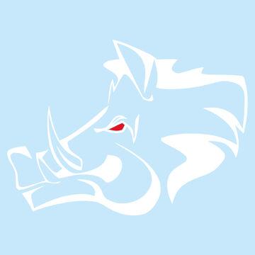 Motif Cerf Autocollant Blanc Brillant Battue Film Chasseur Nature Voiture Vitre