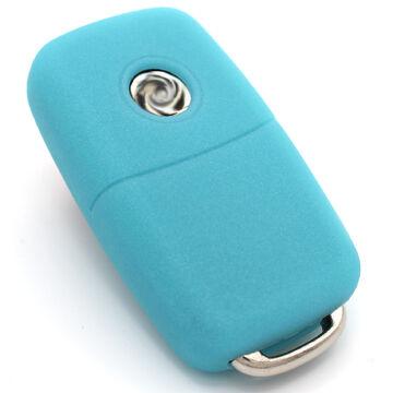 Funda clave pea lila silicona protección llaves del coche cover control remoto