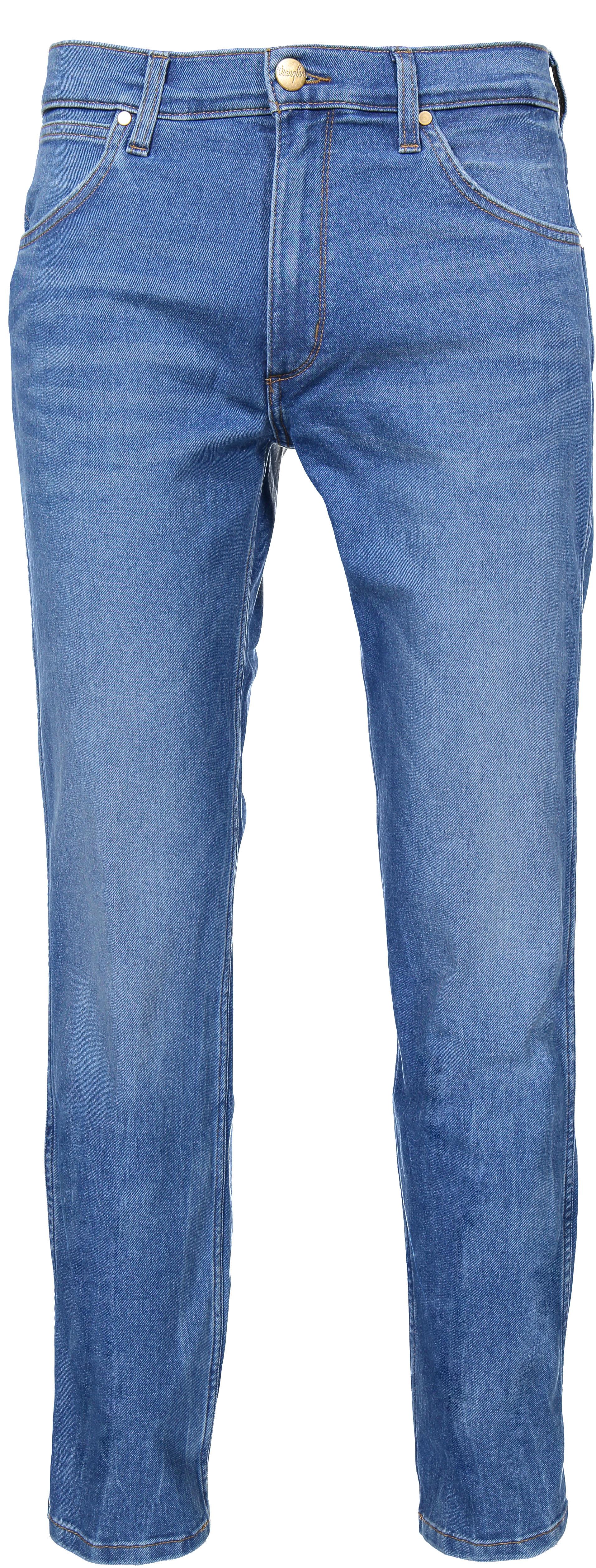 WRANGLER GREENSBORO blue yonder Herren Five Pocket Jeans Used Look W15QQA20Q