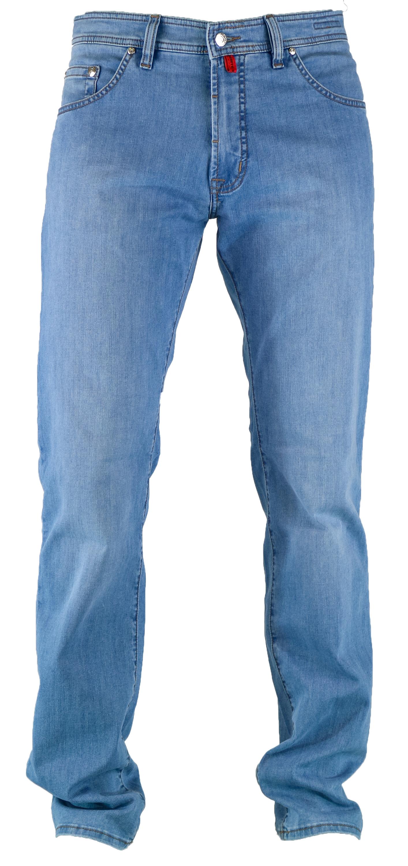PIERRE CARDIN DEAUVILLE summer air touch light blue Herren Jeans 31961 7330.52