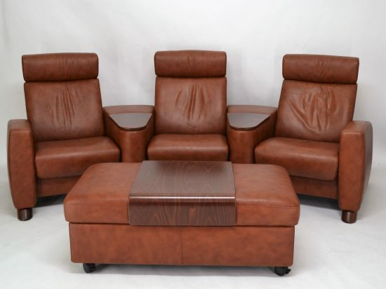 ekornes stressless arion sc111 sofa with stool i reclining sofa i home theater i top ebay