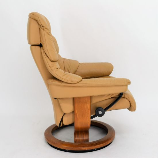 ekornes stressless sessel reno m mit hocker ledersessel heimkinosessel ebay. Black Bedroom Furniture Sets. Home Design Ideas