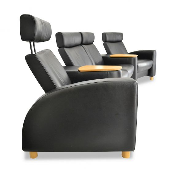 ekornes stressless arion sc121 mit doppelhocker heimkino gaming couch top ebay. Black Bedroom Furniture Sets. Home Design Ideas