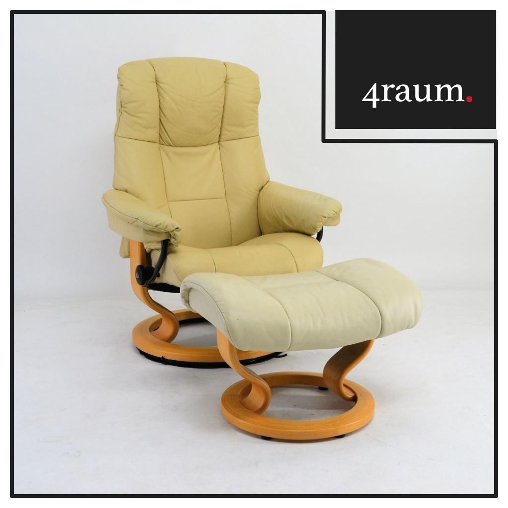ekornes stressless armchair jazz m with stool green leather reclining armchair designer ebay