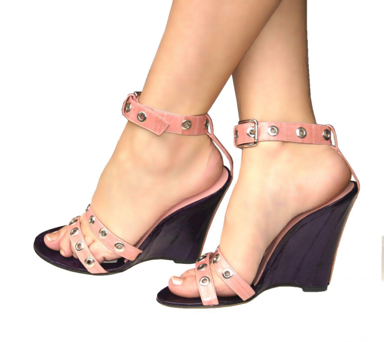 Dolceamp; Leder Sandalen Zu amp;g Damen Wedges Schuhe Gabbana D 38 Details Heels High Keilabsatz sdCtQhr