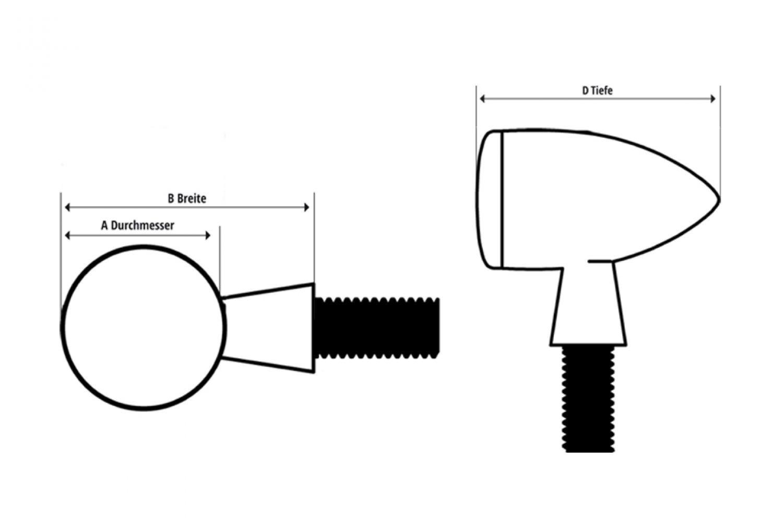 UNIVERSAL HIGHSIDER LED-Rücklicht/Blinker APOLLO BULLET | eBay