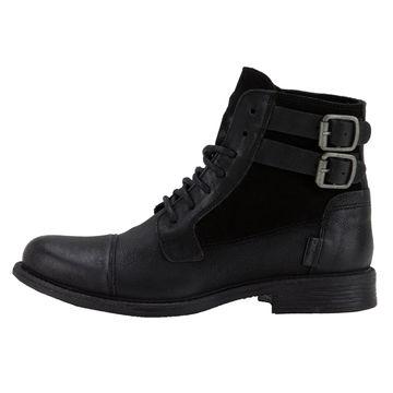 Damen Maine Details Schuhe Levis StiefelettenStiefelLeder Zu Schwarz Und W Textil yY7bf6gv