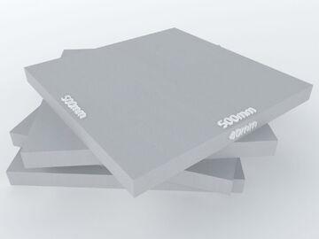 Akustikschaum Plattenabsorber glatt aus Basotect® grau 4 Stück//1m²-50x50x4cm
