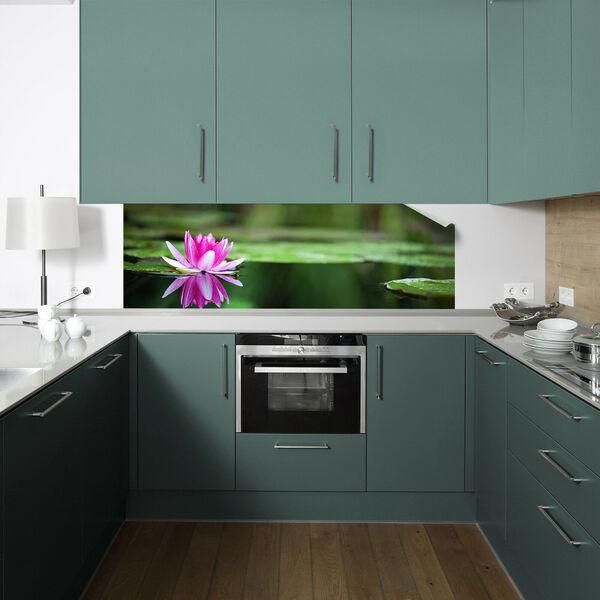 Küchenrückwand Digitaldruck auf Premium PVC Folie 1020-1 Motiv /'Seerose 1/'