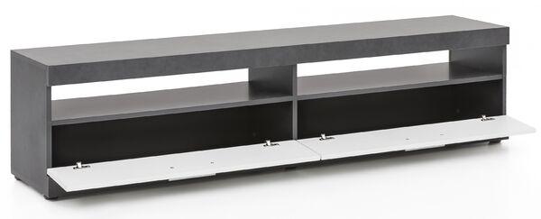 Lowboard Weiss-grau gescheckt Beton TV-Schrank mit Paneel BV-VERTRIEB 3646