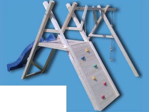Kletterdreieck Weiß : Schaukelgerüst mit kletterwand und rutsche klettergerüst spielturm