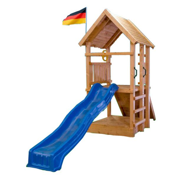 kletterturm holzturm spielturm f r kinder mit sandkasten rutsche 3368 ebay. Black Bedroom Furniture Sets. Home Design Ideas