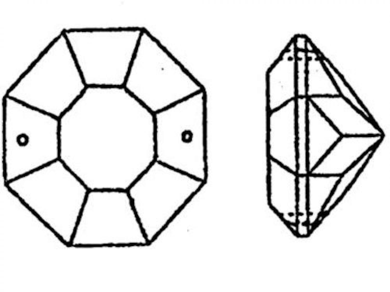 25x Antik Kristall Oktagon ~ Koppe 16mm ~ Kronleuchter Lüster Kandelaber