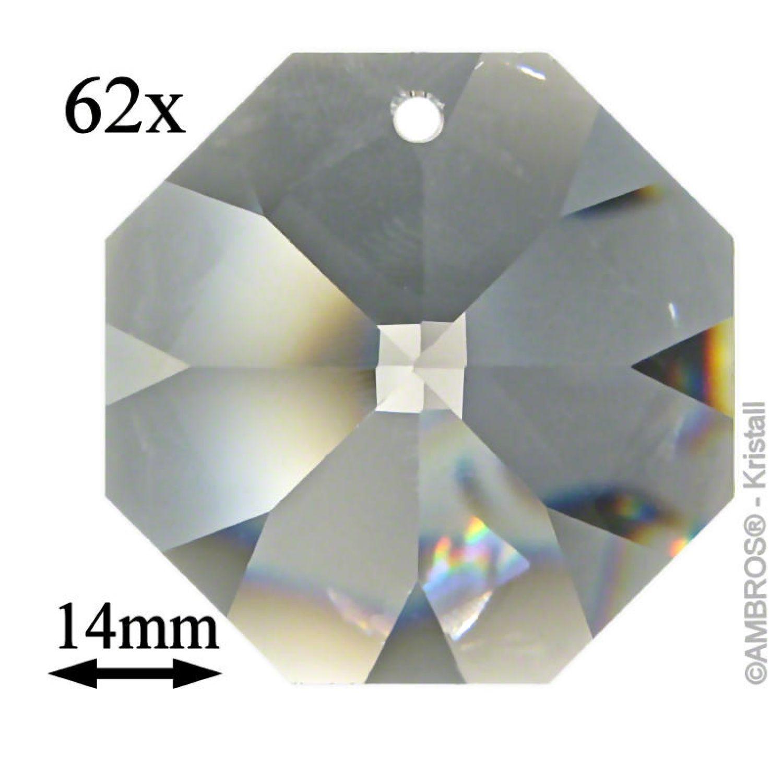1+5 Stück Glas Kugel-Octagon Set Kristalle Feng Shui Regenbogenkristalle