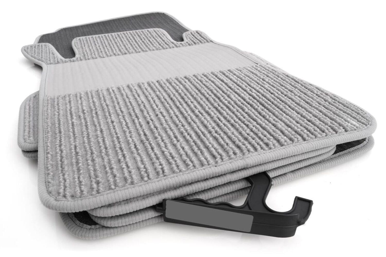 Rips Fußmatten Mercedes CLK W208 C208 A208 Original Qualität Auto Ripsmatte grau