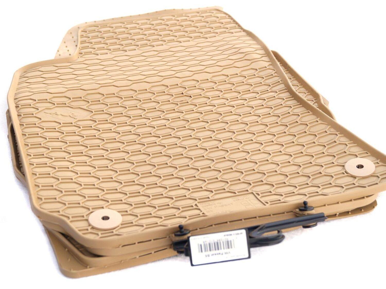rund Automatten Fußmatten beige VW Passat 3B B5 1997 bis 2005 Bef 3BG