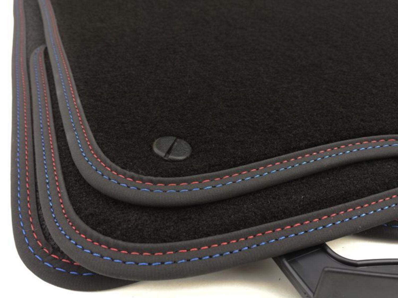Fußmatten BMW E60 E61 M5 Original Zubehör Qualität Premium Automatten Nubuk rot