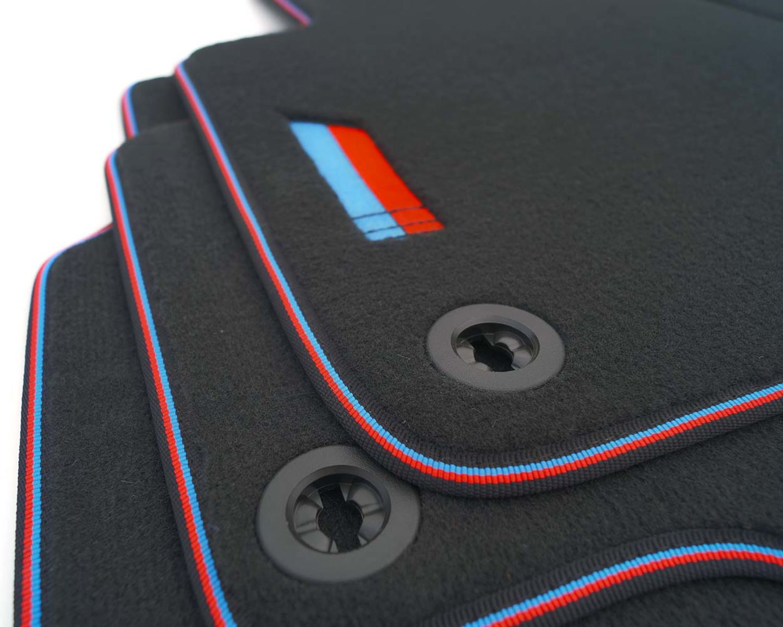 E91 AuCo Velours Fußmatten Textil Passform Matten passend für BMW 3er E90
