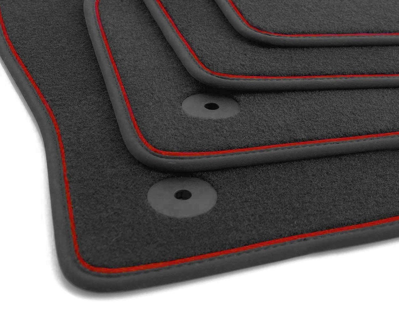 NEU Fußmatten Volvo XC40 R-Design Automatten Velour Zierband Weiß Tuning Zubehör