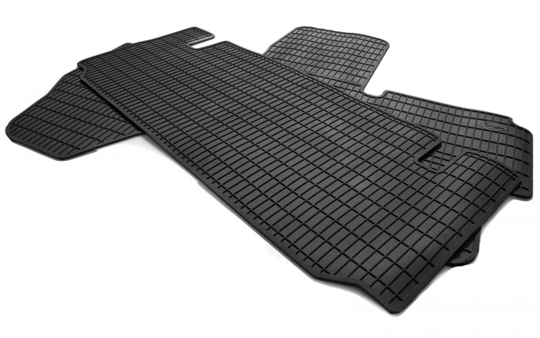 2-teilige schwarze Gummifußmatte für CITROEN FIAT PEUGEOT Lieferwagen
