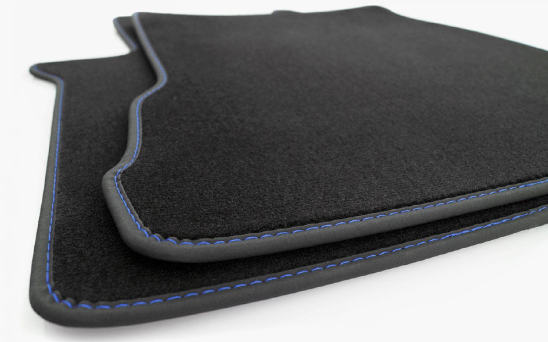 Velours Tuning Teppich Fahrerhaus NEU LKW Fußmatten Volvo FH4 Blaue Ziernaht