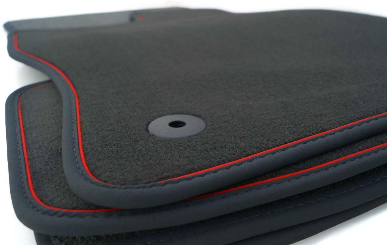Kunstleder WEISS NEU $$$ $$$ Lengenfelder Fußmatten passend für VW Tiguan 5N