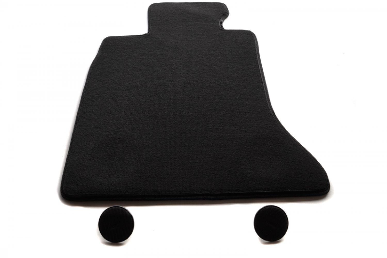 Gummi-Automatten Octagon schwarz Gummifussmatte Für BMW Mini F55 ab 10.14 5-trg