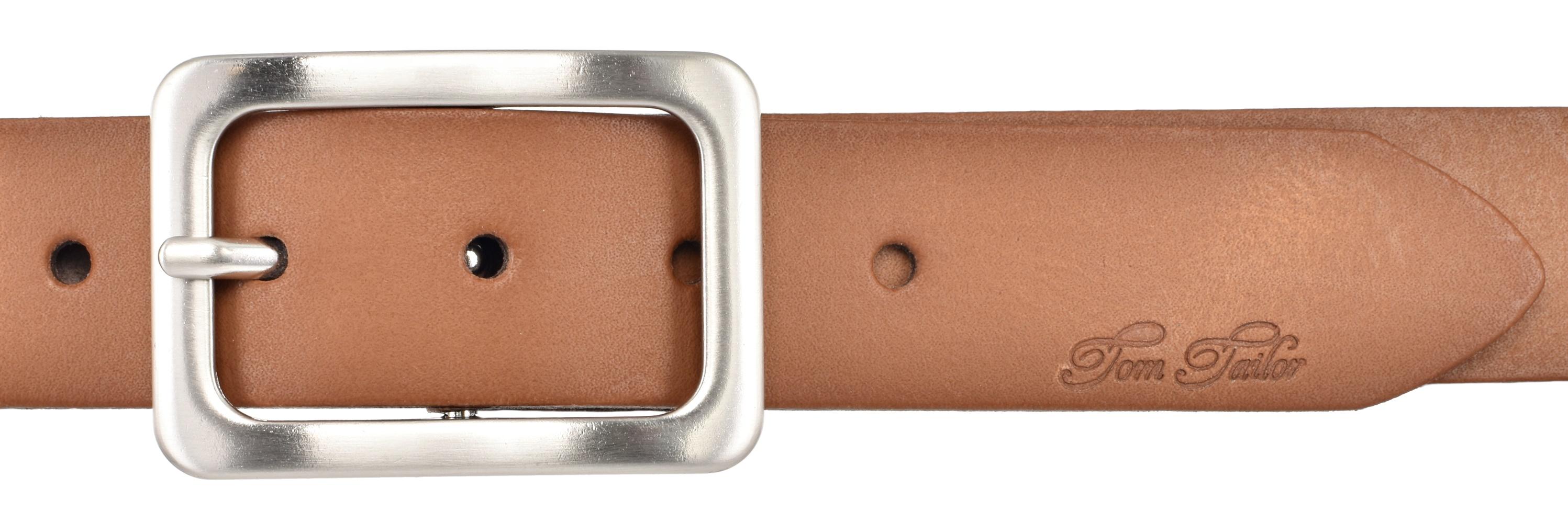 TOM TAILOR Damen Leder Gürtel Rindleder soft vintage baileys 40 mm  Leather Belt