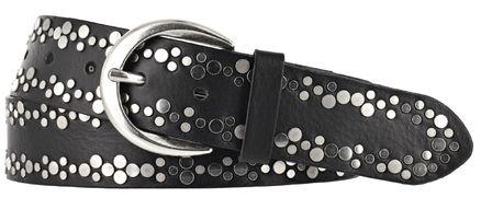 cintura da donna-cintura da donna-cintura in pelle-Nero-borchie 30 mm-NUOVO Tom Tailor