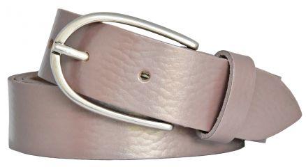 VANZETTI  Damen  Ledergürtel Rindleder Leder   30 mm  Silber Metallic V5269