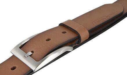 camel active Herren Leder Gürtel Herren Ledergürtel cognac 30mm Leather Belt