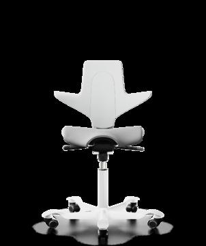 Details zu HAG Capisco Puls 8020 Bürostuhl Weiß Nexus Grau NEX01 Weiß Gestellfarbe