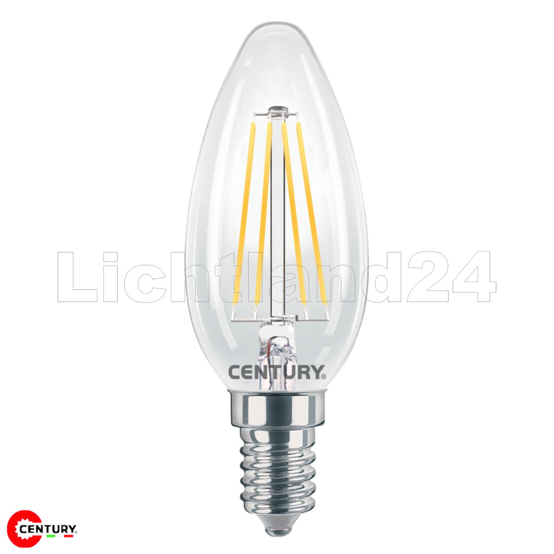 4000K Glühbirne Lampe E14 LED Filament Kerze = 60W INCANTO C35-6W
