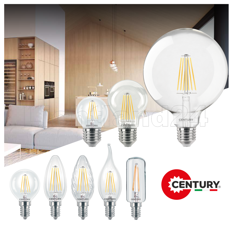 INCANTO = 40W 3000K Glühbirne Lampe E14 LED Filament Kerze matt C35-4W